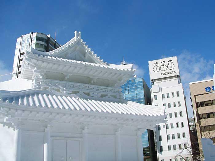 雪祭り法隆寺