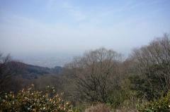 大阪平野が…霞んでいますね