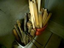 2種類の薪