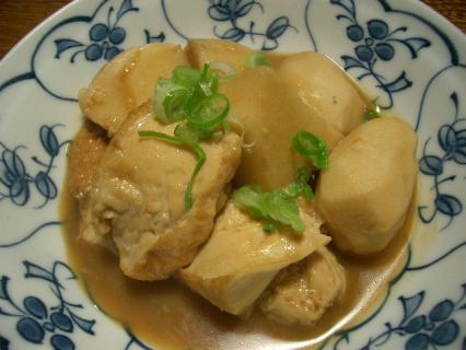 里芋と厚揚げの煮物