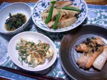筍とてんぷらの煮物定食