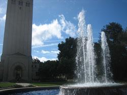 ビジネススクール前の噴水