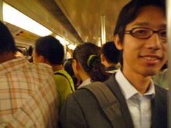 上海の地下鉄通勤ラッシュ