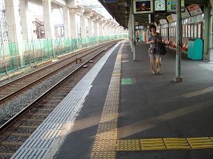 淀駅(出町柳方面ホーム)