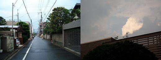 夕立と微妙な天気