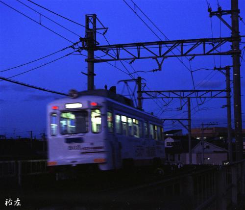 薄暮の阪堺線