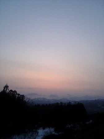 夕陽@七飯