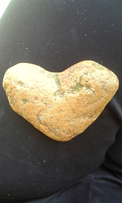 ハートの石。