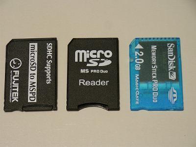 microSD→MS Duo変換アダプタ
