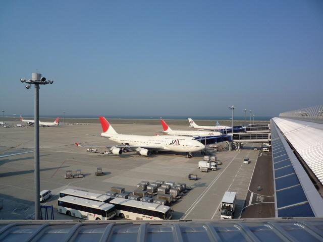 空港デッキ