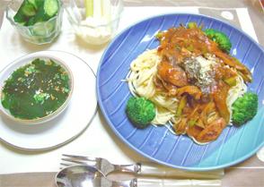 春野菜トマトソースパスタ