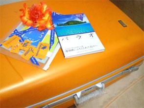 オレンジスーツケース♪
