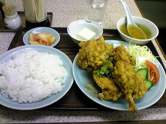 「大洋軒」 鶏のから揚げ定食 福島駅