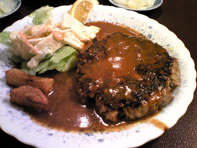「レストラン艸葉」 ハンバーグステーキ 堺筋本町