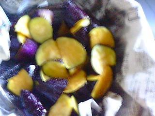 茄子のマリネ仕込み