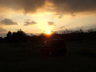夕日の散歩 067