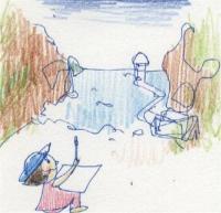 2008 夏の特別教室 チラシ挿絵 スケッチ_R