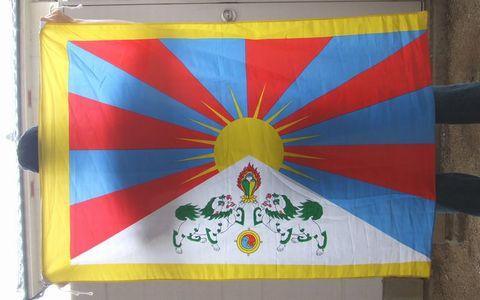 チベットの国旗、雪山獅子旗ともいう。
