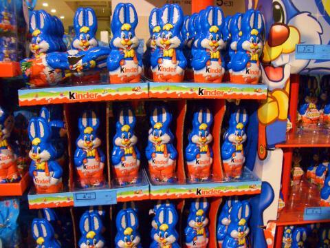 青ウサギの行列。