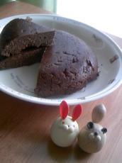 今日のココアおからケーキ