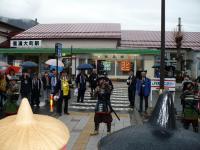 信濃大町駅で最後の祝砲