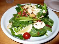 ホウレン草とマッシュルームのサラダ