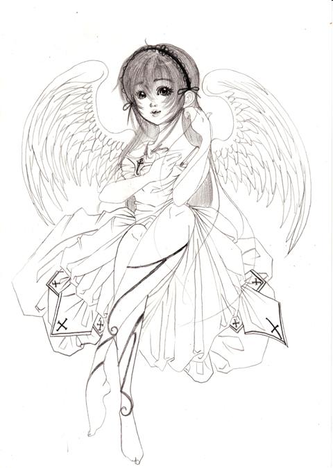 髪を梳く天使