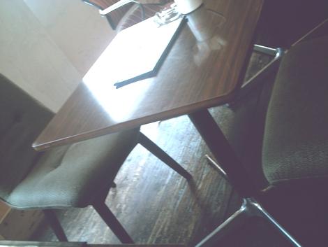 イスとテーブルの足