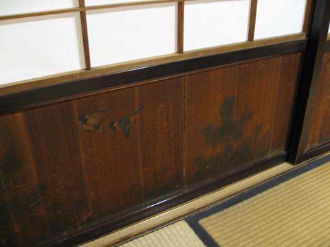 2階座敷の障子腰板
