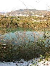 木曽川・上恵土神社付近の流れ