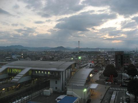 美濃加茂市街の早朝