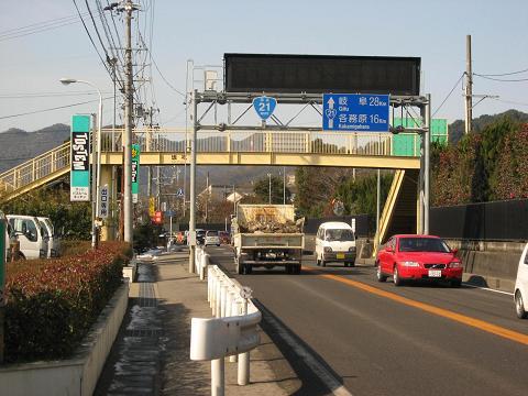 国道21号・坂祝町酒倉付近