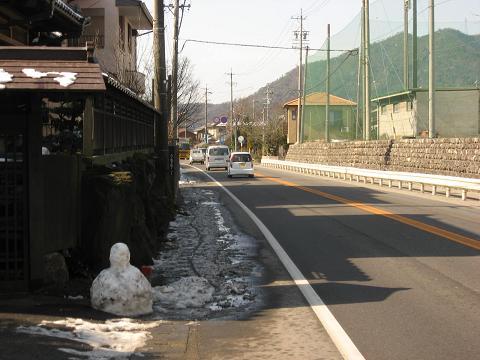 国道21号・坂祝小学校付近