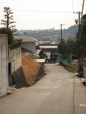 旧中山道・赤坂神社付近