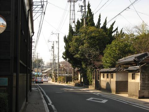 鵜沼宿・本陣跡付近