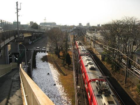 三柿野駅付近の跨線橋