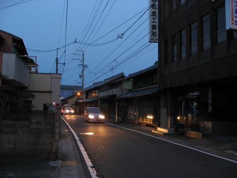 黄昏の美江寺宿