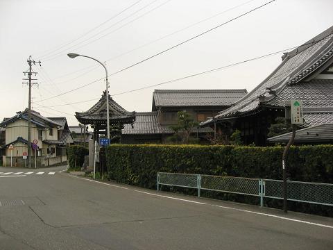 呂久・良縁寺付近