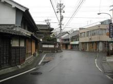 赤坂宿の四ツ辻