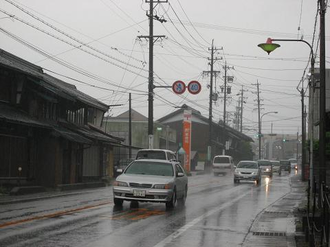 国道21号・関ヶ原宿東町付近