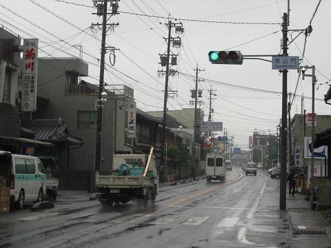 関ヶ原宿・東公門信号
