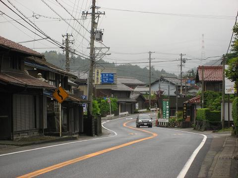 国道21号・関ヶ原宿西外れ付近