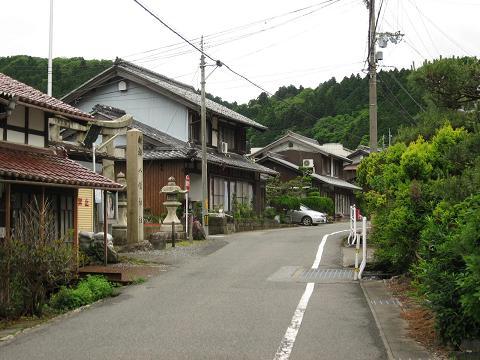 今須宿・八幡神社付近