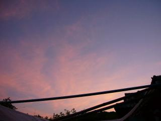 .綺麗な夕焼け