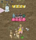 桜マントの女性4人