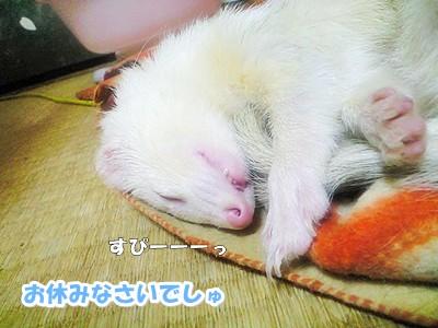 ゆうちゃんの寝顔のドアップ☆