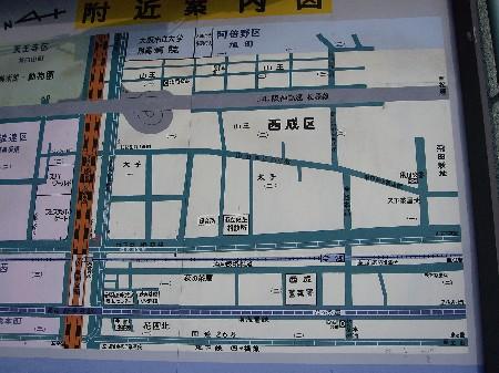 新今宮での地図