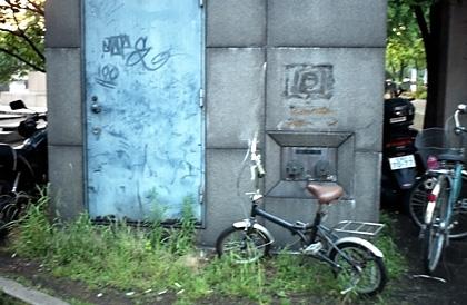 自転車とドア