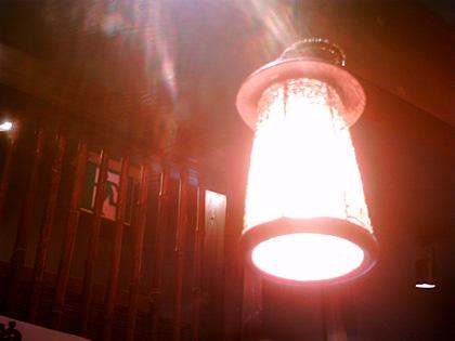ラーメン屋の照明