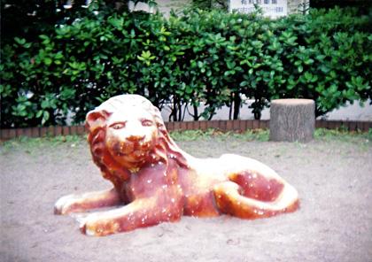 公園のライオン